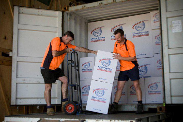 shipping overseas from Australia with overseas packers