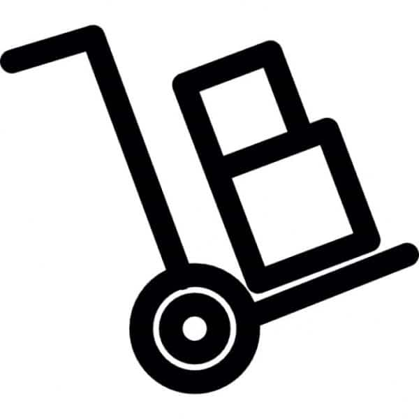 Only Use Trolley Shipping Symbol