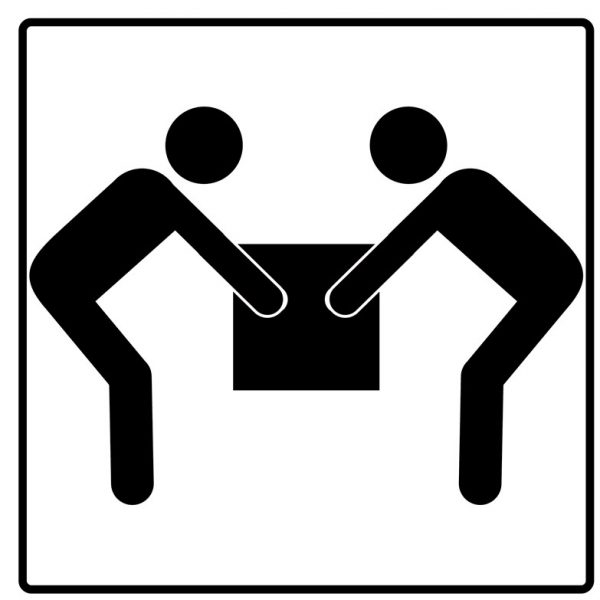 Two Person Lift Shipping Symbol